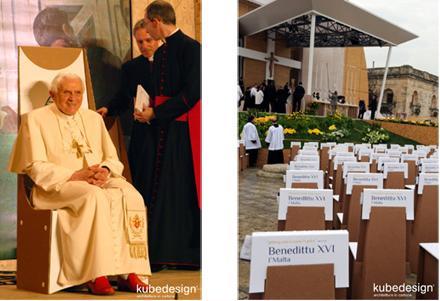 Il trono del papa si ricicla
