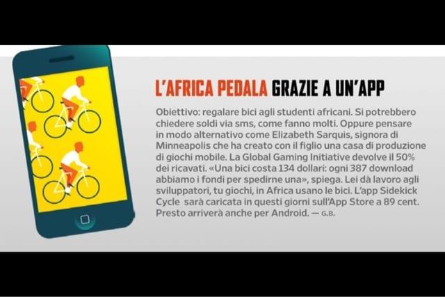 L'app che fa pedalare