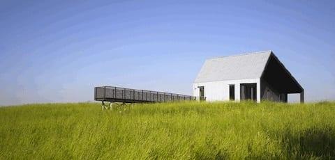Una casa low budget nel verde