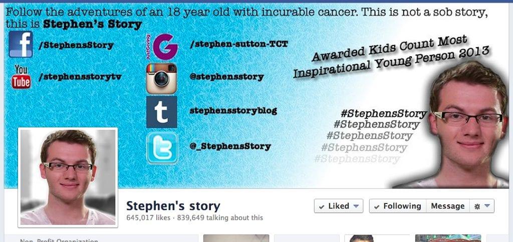Stephen, 19 anni e la battaglia contro il tumore