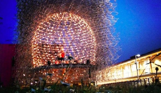 Sentirsi un'ape nel padiglione UK a Expo2015
